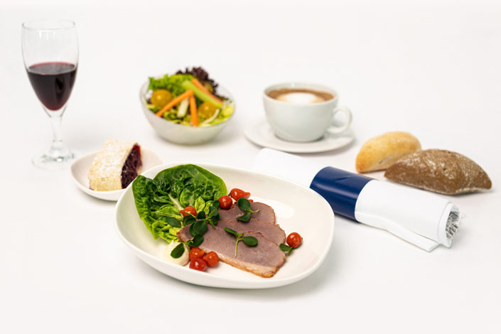 Gourmet Menu - Cold Duck Menu served aboard Czech Airlines flights