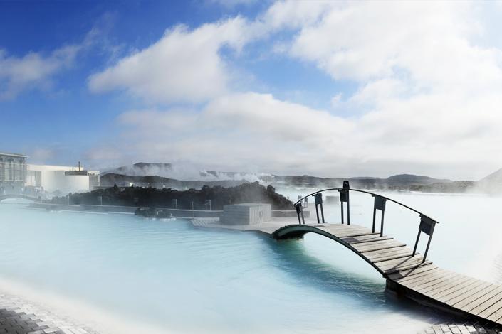 Reykjavík - geotermální lázně Modrá laguna