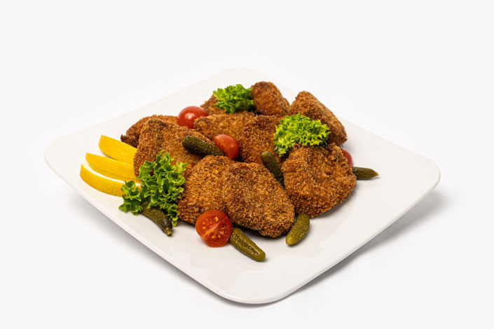 Gourmet Menu - Pork or Chicken Schnitzel served aboard Czech Airlines flights