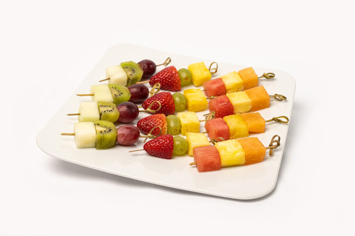 Gourmet Menu - Fruit Selection Skewers served aboard Czech Airlines flights